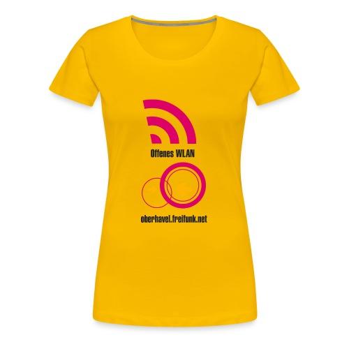 171203freewifi oberhavel v6 1btranspa - Frauen Premium T-Shirt