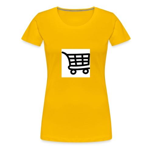 Einkaufswagen - Frauen Premium T-Shirt