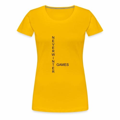 Neverwinter Games T-Shirt Schrift Schwarz - Frauen Premium T-Shirt