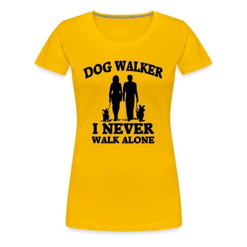 Dog Walker - Frauen Premium T-Shirt