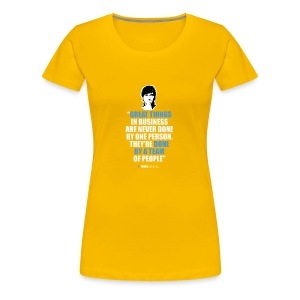 T-Shirt Steve Jobs - Great Things in Business.. - Maglietta Premium da donna