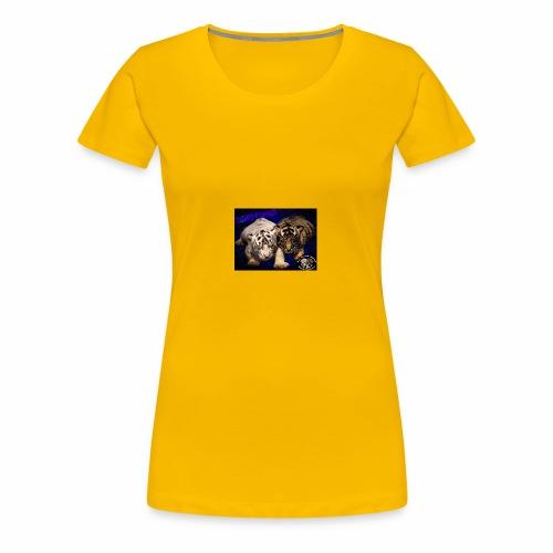 new born tiger cubs - Women's Premium T-Shirt