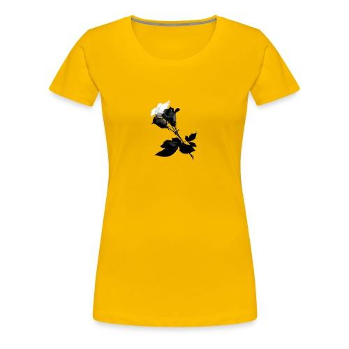 Black and White Rose Bundle - Women's Premium T-Shirt