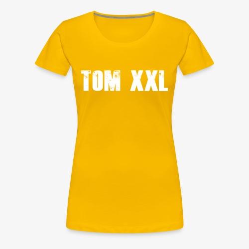 Logo Tom XXL Shirt Weiß - Frauen Premium T-Shirt