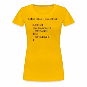 Coffee Code Design - Frauen Premium T-Shirt