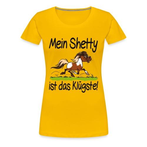 Mein Shetty ist das Klugste (Text Schwartz) - T-shirt Premium Femme