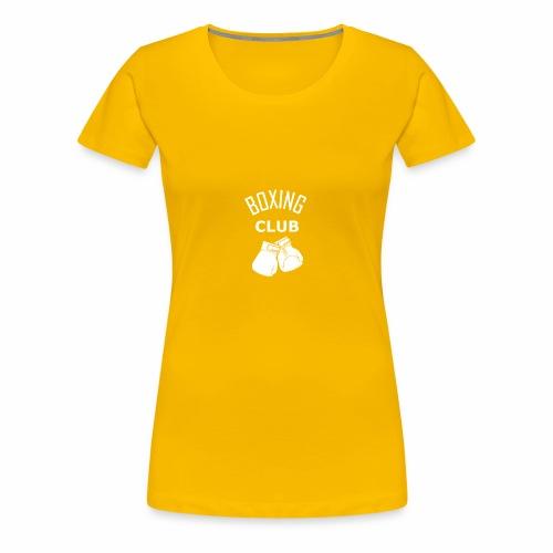 Boxing club blanc - T-shirt Premium Femme