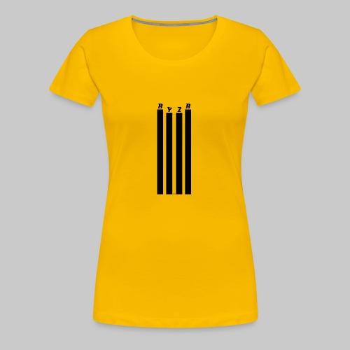 rayzor streifen logo - Frauen Premium T-Shirt