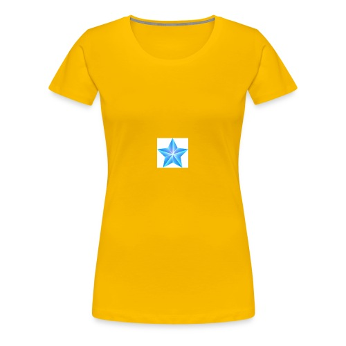 blue themed christmas star 0515 1012 0322 4634 SMU - Women's Premium T-Shirt
