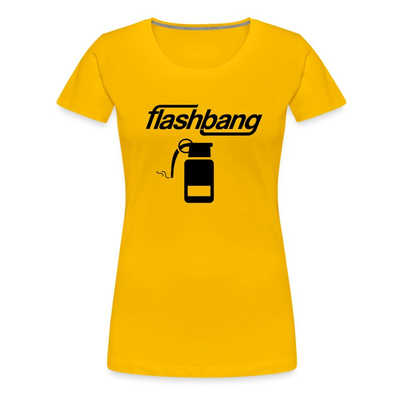 FlashBang Logga - 100kr Donation - Premium-T-shirt dam