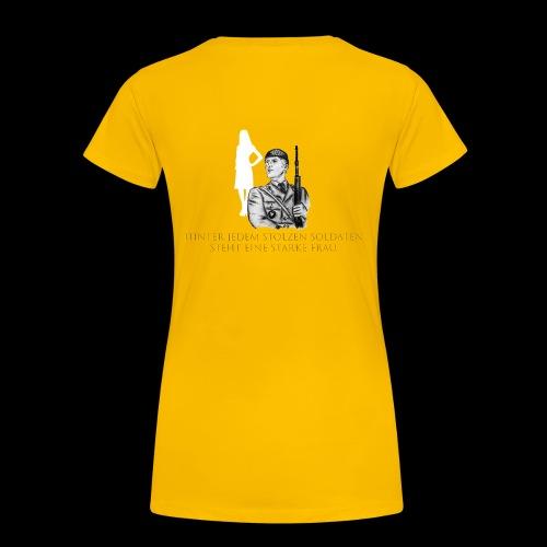 Stolzer Soldat - Starke Frau, Einzelversion 5 - Frauen Premium T-Shirt