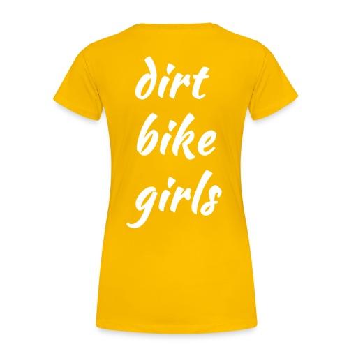 dirt bike girls - Premium T-skjorte for kvinner
