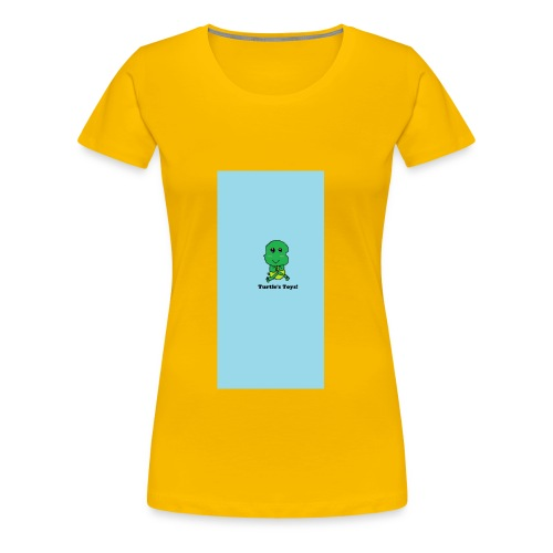 Women's Short - Sleeved Top with Turtle Design - Women's Premium T-Shirt