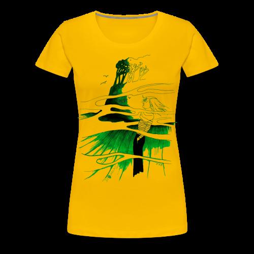 Ein Ort (grün) - Frauen Premium T-Shirt