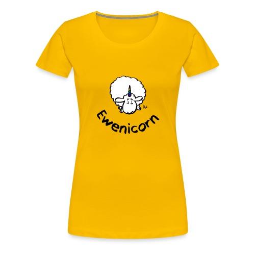 Ewenicorn - es ist ein Regenbogen-Einhornschaf! (Text) - Frauen Premium T-Shirt
