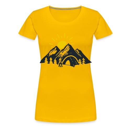 Berge mit Sonne - Frauen Premium T-Shirt