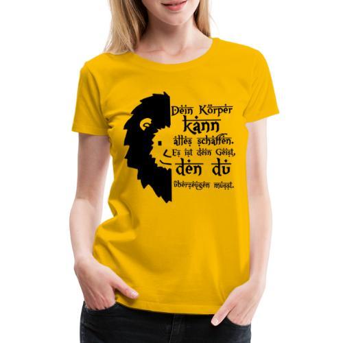 Motivations Löwe - Löwenkopf - Süßer Löwe - Frauen Premium T-Shirt