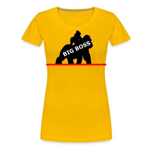 Affe Gorilla Shirt Monkey T-Shirt Big Boss Gorilla - Frauen Premium T-Shirt