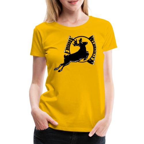 Weihnachten, Frohe Weihnachten Reh, Hirsch Wald - Frauen Premium T-Shirt