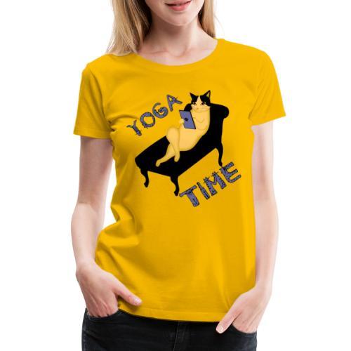 Yoga zeit Yoga Time Katze mit Smartphone - Frauen Premium T-Shirt