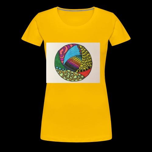 circle corlor - Dame premium T-shirt