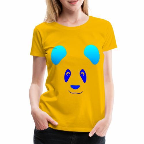 Happy Panda - Blue - Women's Premium T-Shirt