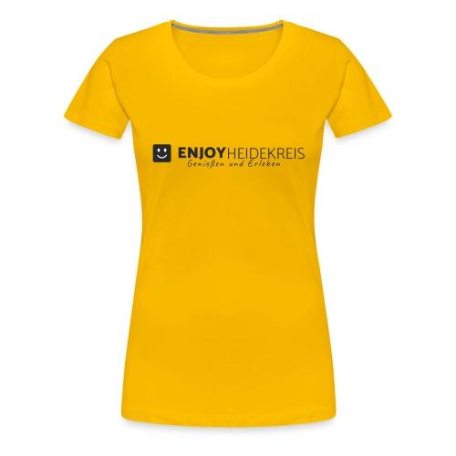 Enjoy Heidekreis black - Das Design zum Blog - Frauen Premium T-Shirt
