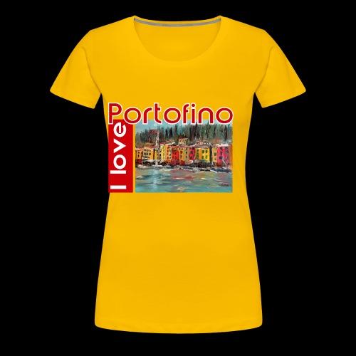 I love Portofino. Italy. - Frauen Premium T-Shirt