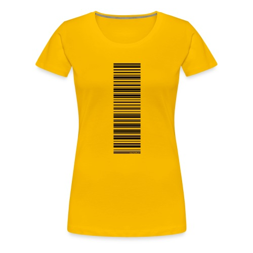 Barcode-T-Shirt Volleyballer - Frauen Premium T-Shirt