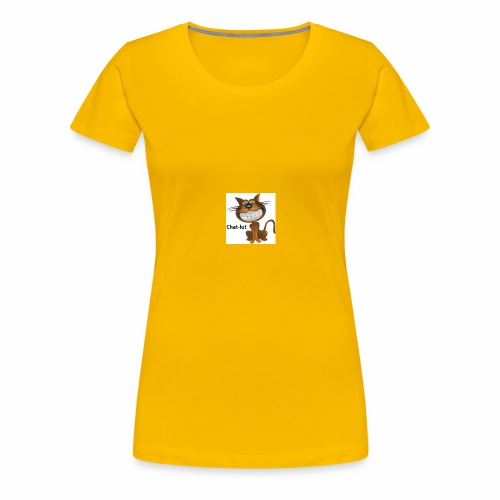 Chat-lut - T-shirt Premium Femme