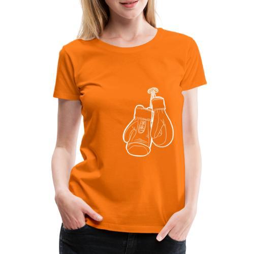 Handschuhe weiß - Frauen Premium T-Shirt