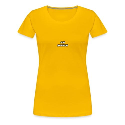 FNWhite SpreadShirt - Women's Premium T-Shirt