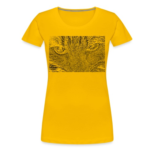 Kat kop (zwart) - Vrouwen Premium T-shirt