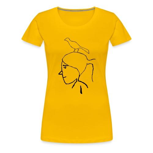 pajaro en cabeza - Camiseta premium mujer