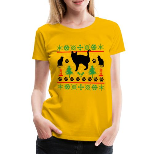 Kerst met katten - Vrouwen Premium T-shirt