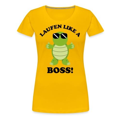 Laufen LIKE a BOSS - Frauen Premium T-Shirt