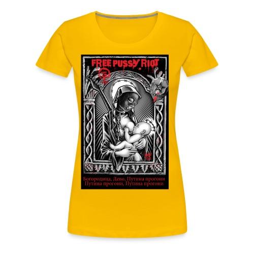 FreePussyRiotSteff jpg - Frauen Premium T-Shirt