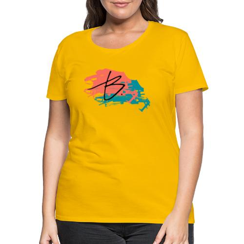 B - Naisten premium t-paita