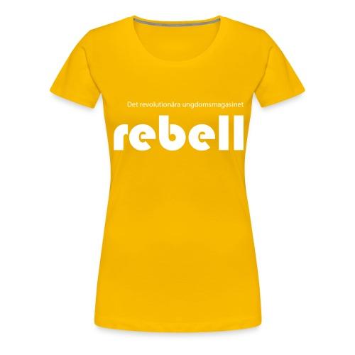 Rebell logga med text - Premium-T-shirt dam