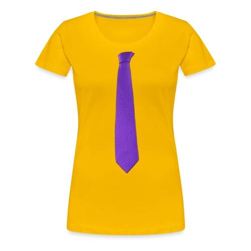 Purple Tie - T-shirt Premium Femme