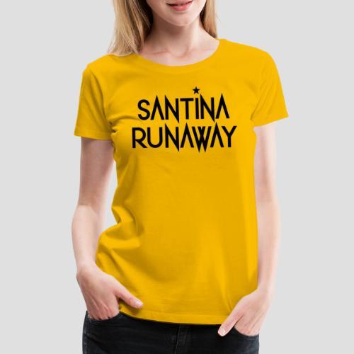 DJ Santina Runaway - Logo - Black - Women's Premium T-Shirt