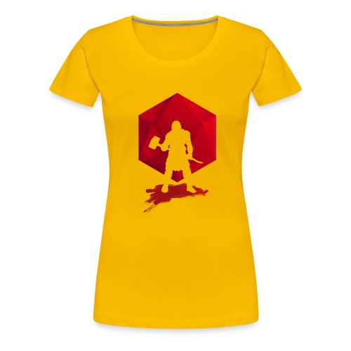 Brutal Barbarian - Dungeons and Dragons dnd d20 - Women's Premium T-Shirt