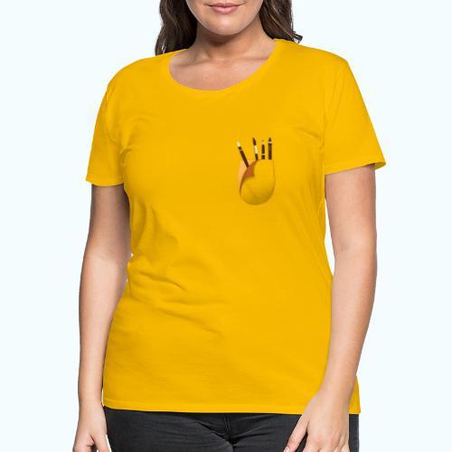 Artist printed breast pocket 3D - Women's Premium T-Shirt