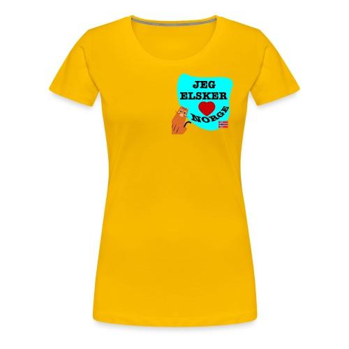 Jeg elsker Norge - Premium T-skjorte for kvinner