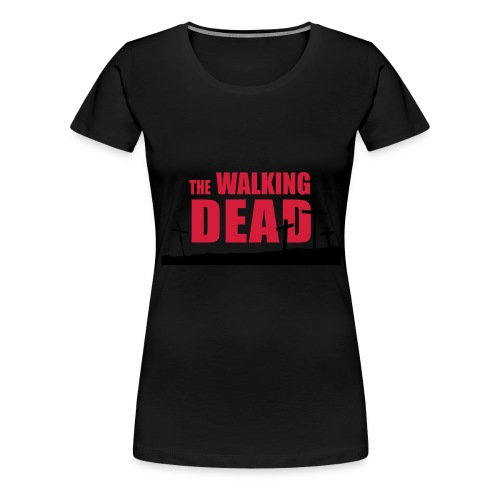 walkingdead cruces - Camiseta premium mujer