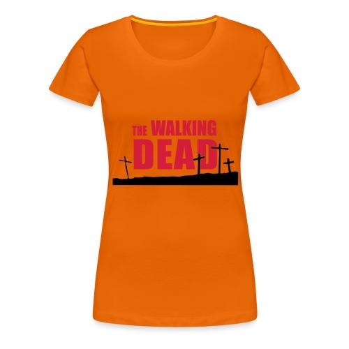 walkingdead cruces - Camiseta premium mujer
