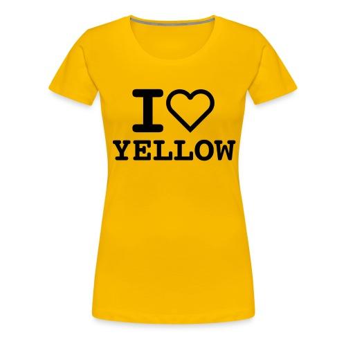 i love yellow 5 - Maglietta Premium da donna