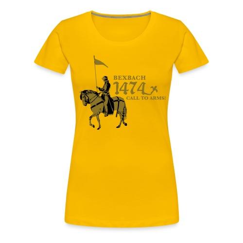 bexbach tshirt gelb klein - Frauen Premium T-Shirt