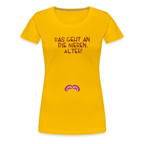 nieren alter - Frauen Premium T-Shirt