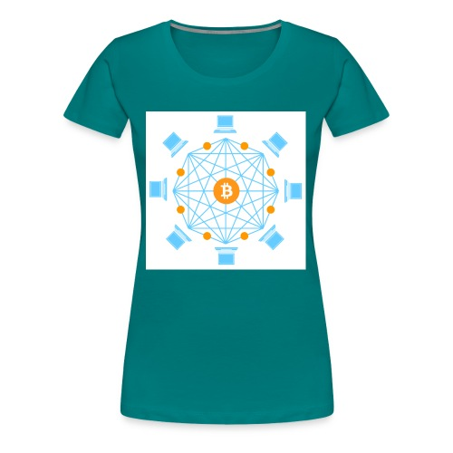 Blockchain - Naisten premium t-paita